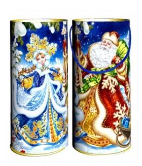 """Туба """"Дед мороз и снегурка"""" 800 гр"""